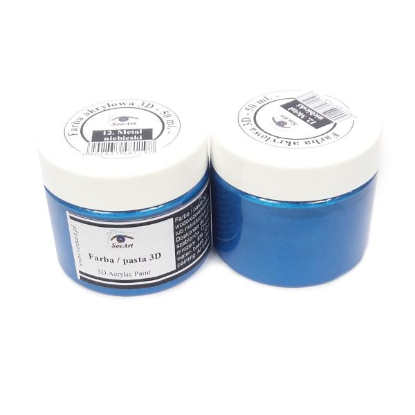 farba akrylowa - metal niebieski